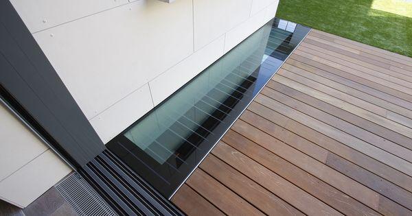 A Walk On Glass Floor Light In The New Roof Garden Decking