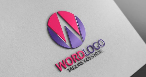 W Letter Logo – corporate and business