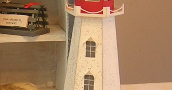 Runningwscissorsstamper 3 d thursday lighthouse paper for 3d paper lighthouse template