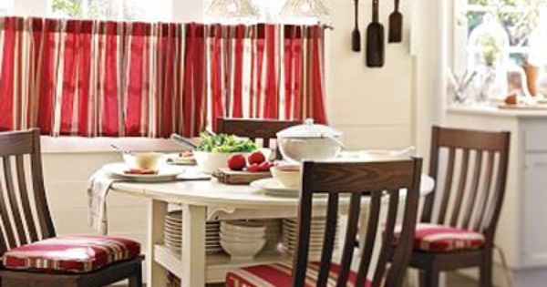 Stripe Cafe Tier Curtains In Red Cafe Tier Curtains Pinterest Curtain Designs Stripes And