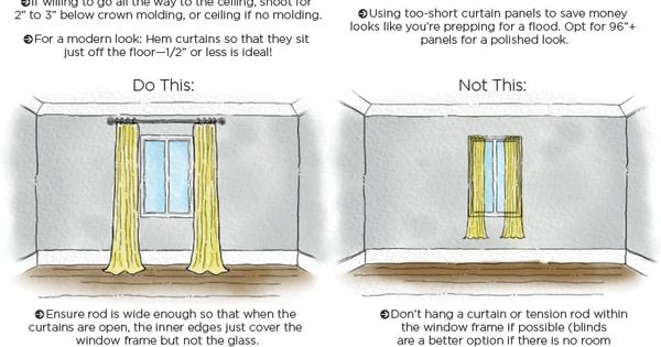 are you making these mistakes when hanging your curtains hang curtains apartment therapy and. Black Bedroom Furniture Sets. Home Design Ideas