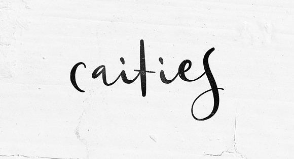 Caities is modern script font, every single letters have been carefully crafted to make your text looks beautiful