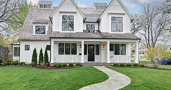 Beautiful white farmhouse look house ideas pinterest for New construction farmhouse