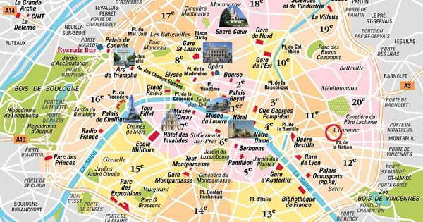 bastille area paris map