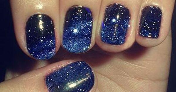 Galaxy nails... starry night