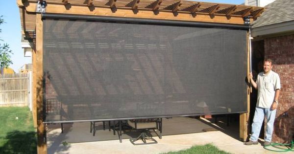 Vertical Retractable Privacy And Solar Screens For Your
