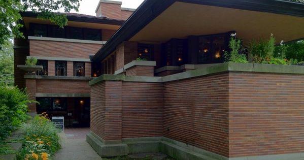 Robie House Prairie Style Frank Lloyd Wright 1910