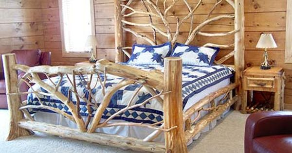 Birch Log Beds Adirondack Rustic Bed Frames Birch Abrk Dressers Rustic Bedframes House: adirondack bed frame