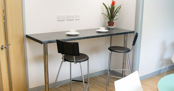 Wall Mounted Bar Table The Office Kitchen Area Also Has