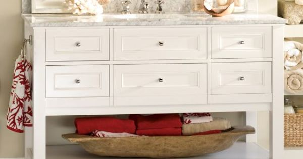 White Barn Sink : Single Wide Sink Console - White Pottery Barn with Double sink ...