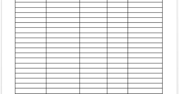 garage sale tracker template