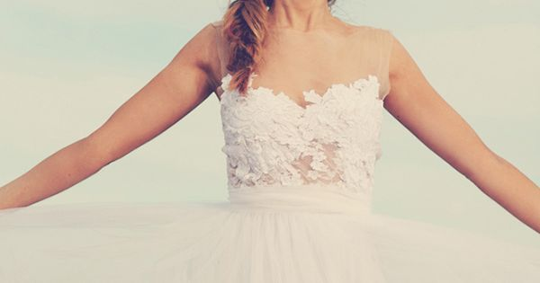 Grace Loves Lace - Magical white lace wedding dress with soft tulle