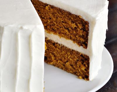 Pumpkin Spice Cake with Whipped Cream Cheese Frosting Recipe | Not So