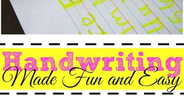 Handwriting Practice Made Fun and Easy! | Handwriting, ...fun and ...