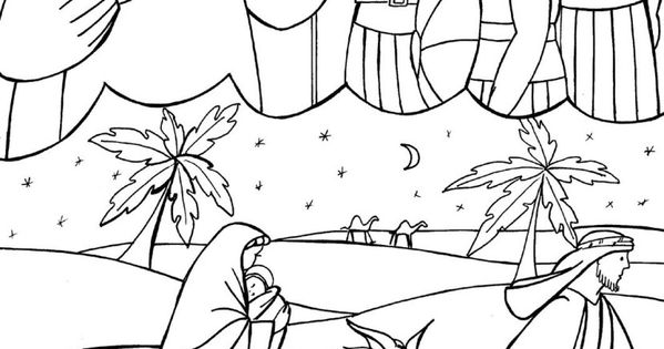 flight into egypt coloring pages - photo#27