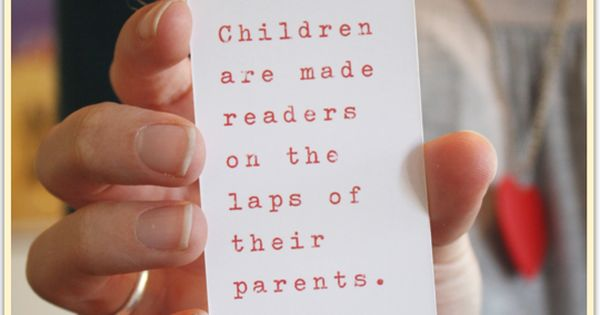 Bookmark - so true. Great for a Baby Library Building Baby Shower