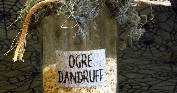 ooak  u0026quot ogre dandruff u0026quot  halloween labeled potion  lab  witch