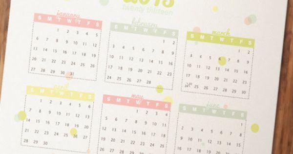 Free Printable 2013 Calendar - I could make free calendars as a