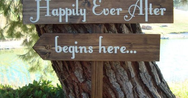 HaPPiLy EVeR AfTeR SiGn - Fairy Tale Style Lettering - DiReCTioNaL Wedding