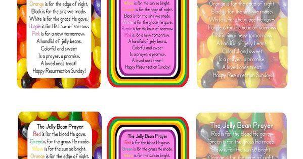 Mama Jenn Jelly Bean Prayer Cards Easter Pinterest