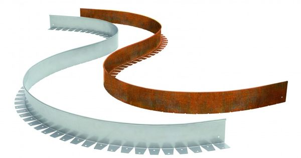rasenkante beeteinfassung flexibel aus cortenstahl einzeln. Black Bedroom Furniture Sets. Home Design Ideas