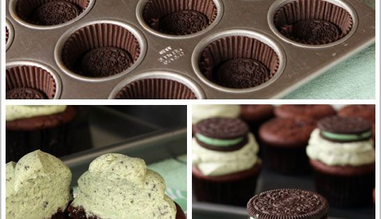 chocolate mint oreo cupcake recipe cupcakes cupcakeideas cupcakerecipes food yummy sweet delicious