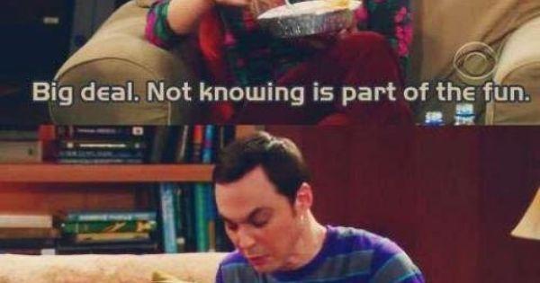 Big Bang Theory and Sheldon always make me laugh.
