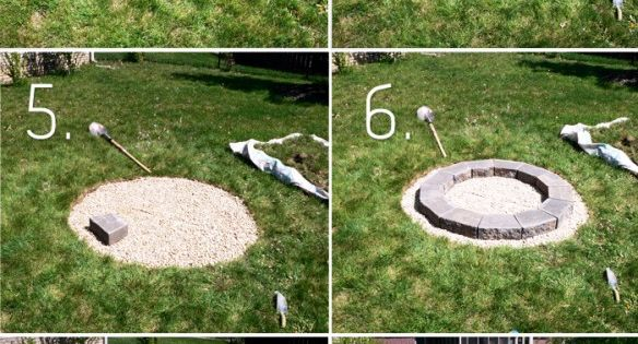 Build a fire pit in the yard of your Florida home and