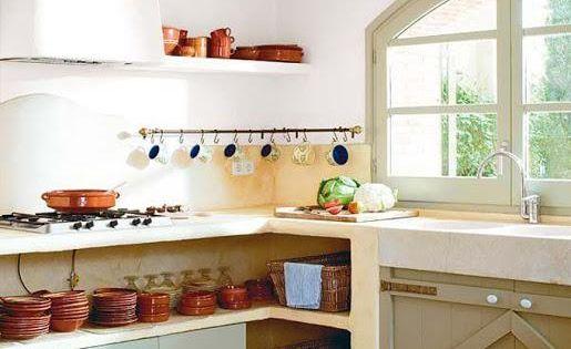Cocinas de cemento o ladrillo muy muy bonitas y con un - Cocinas de pueblo ...