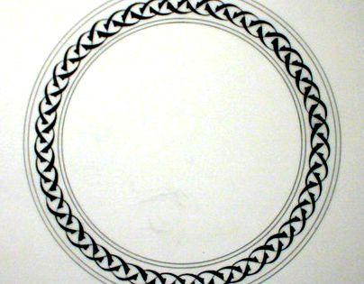 Tezhip border circle pinterest white clay and