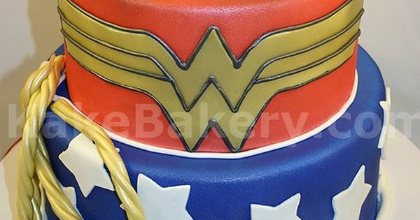Wonder Woman Birthday Party Cake