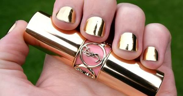 YSL gold nail polish . Might come in handy for some nail