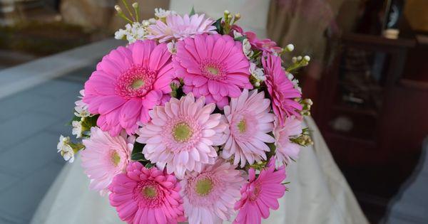 Gerbera Daisy Wedding Bouquets | Sending Smiles ~ www.perfectweddingflowers.com