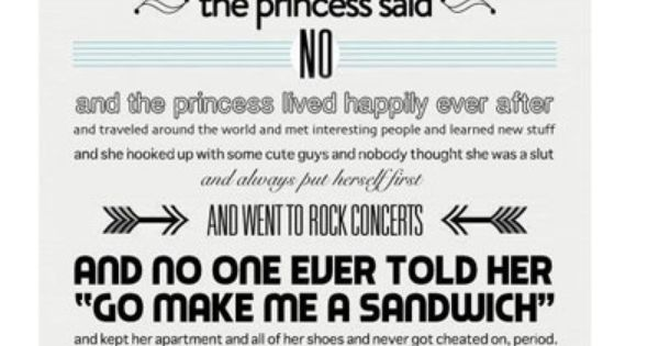 A new princess fairytale... Too funny.