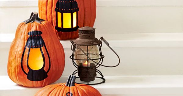 Let there be light! How to make lantern halloween pumpkins