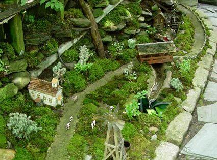 miniature garden village