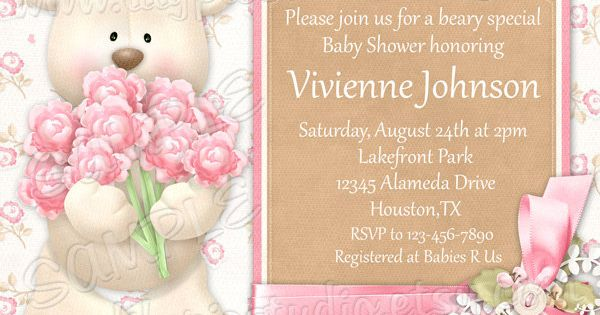 Shower Invitation as beautiful invitation example