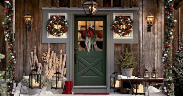 Outdoor Christmas Decor - Cabin Style