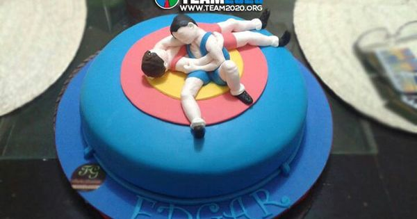 Wrestling Birthday Cake Birthday Stuff Pinterest