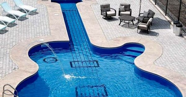 paul guitar swimming pool no freakin way pinterest