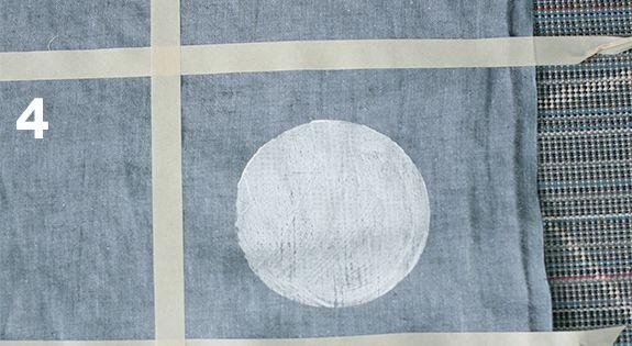 DIY hand stamped linen
