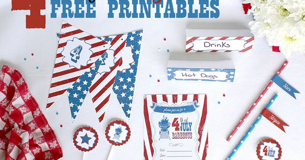 Free 4th of july party printables free party th me for Idee deco usa