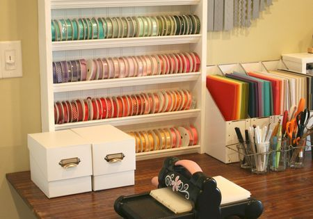 Ribbon storage and craft storage ideas