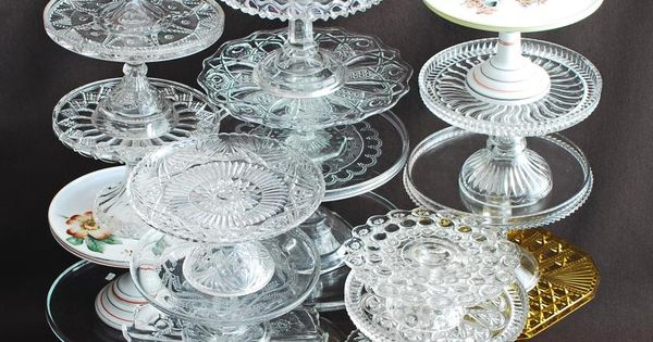 Pressed And Pattern Glass Cake Stands C 1880 1910 No