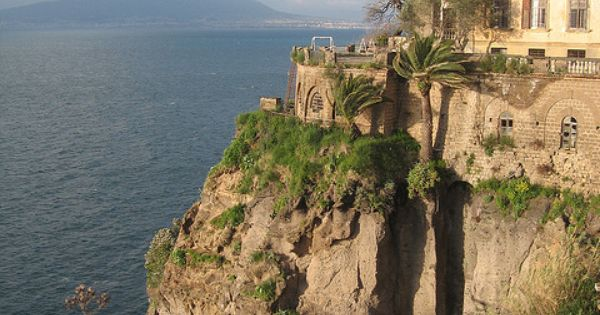 Mt. Vesuvius view.. Sorrento, Italy..