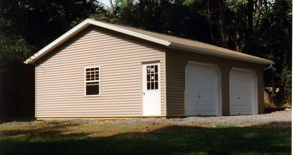 Simple two car garage do it yourself garage building for Diy garage packages