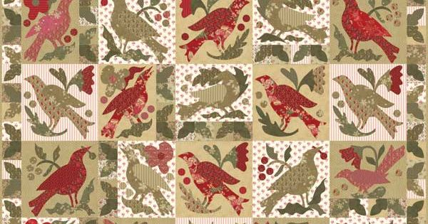 Moda blackbird cinnamon spice blackbirds quilt kit a for Tending the garden blackbird designs