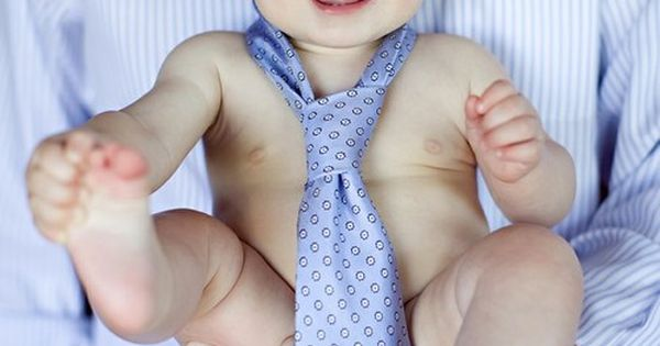 Cutest Baby Photo Ever. Blue eyed baby boy wearing daddy's tie!