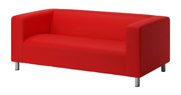 Ikea klippan canap 2 places vissle rouge orange il for Housse pour sofa
