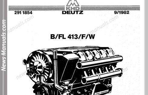 Deutz Engine B Fl413 F W Workshop Manual Workshop Electrical Diagram Manual